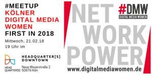 #meetup der Kölner Digital Media Women - Startklar in 2018 @ Headquarters Downtown