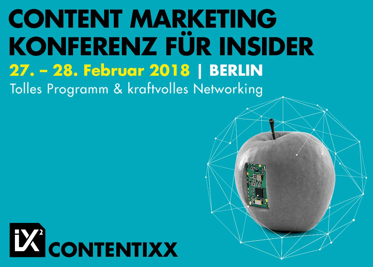 CONTENTIXX 2018 - unsere Medienkooperation.