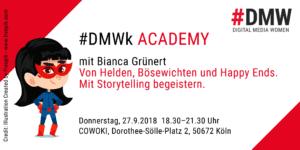 #DMWk Academy: Workshop Storytelling - Wie du mit Geschichten mehr Leben in deine Präsentationen bringst @ COWOKI Köln