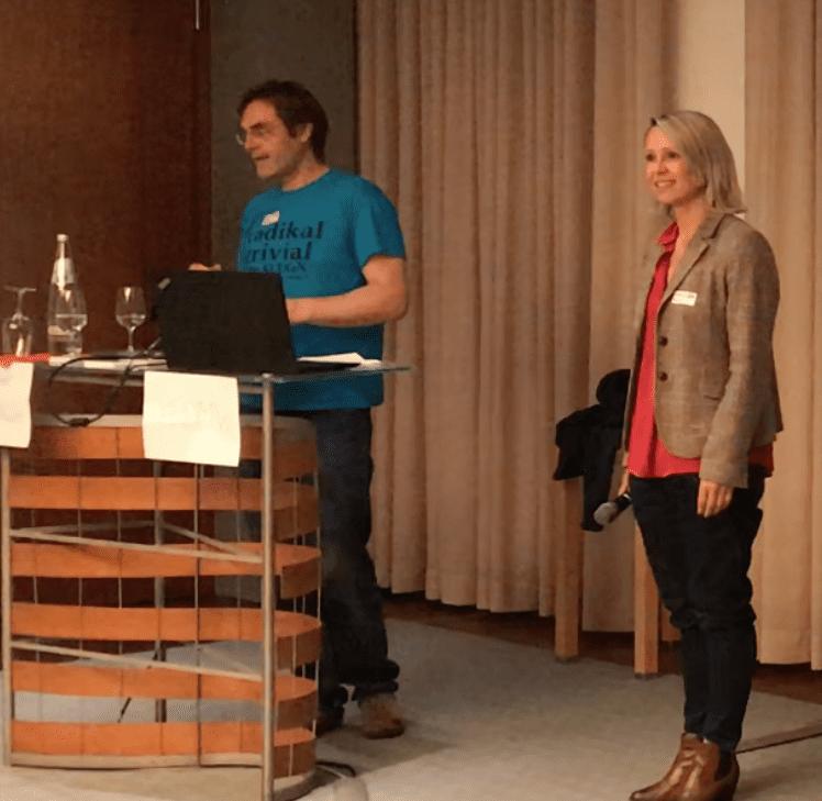 Urs Zeidler und Nadine Bütow (Bitcoin und Blockchain, Themenabend)