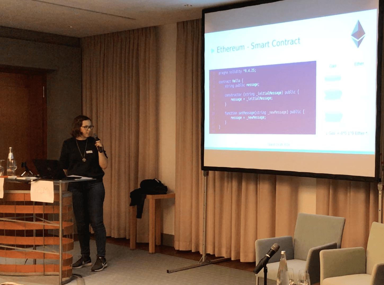 Sabine Bertram, #DMW Themenabend Blockchain