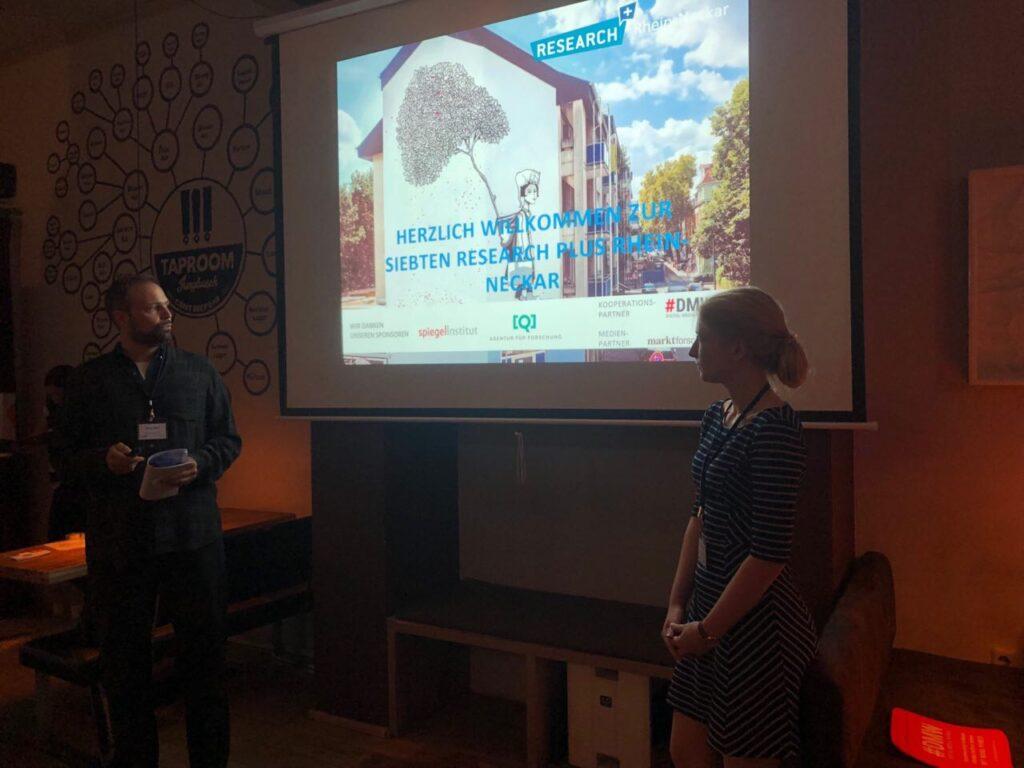 Das Moderations-Team des gemeinsamen Events der Deutschen Gesellschaft für Online-Forschung (DGOF e.V.) und den #DMW Rhein-Neckar.