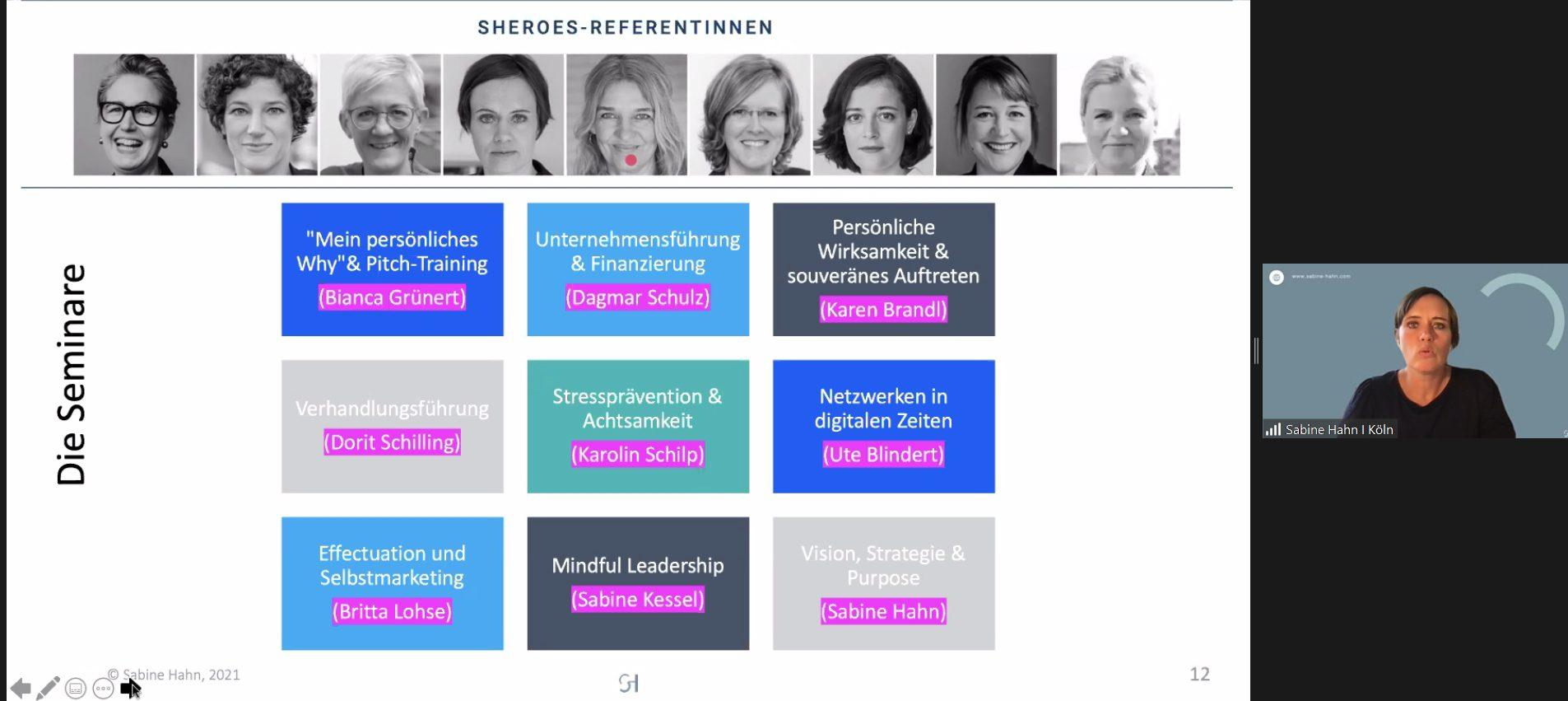 SHEROES Seminare für Medienfrauen des MGZ in Kooperation mit #DMWrhl